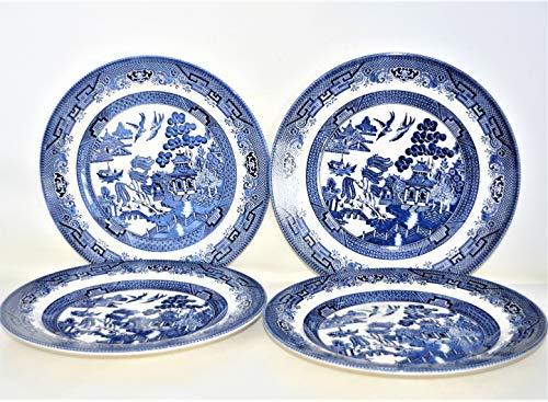 Blue Willow Churchill Dinner Plates 10
