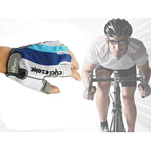 Dofover メンズ レディース 滑り止めサイクリンググローブ マウンテンバイクグローブ ロードレーシング 自転車グローブ バイク マウンテンバイク ライディング ジム スポーツ 通気性 ハーフフィンガー ゲルパッド 衝撃吸収手袋 Large  B071D9L6XB