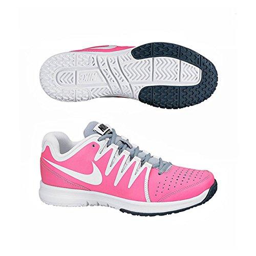 Nike Vapor de tenis para mujer de pista de zapatos de cordones de los deportes de traje de neopreno para mujer zapatillas de protectores de calcetines para rosa - Pink/White/Grey