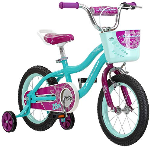 Schwinn Elm Girl's Bike, Featuring SmartStart Frame to Fit Your Child's Proportions, 14inches Wheels, Teal (Bike In Girls 14)