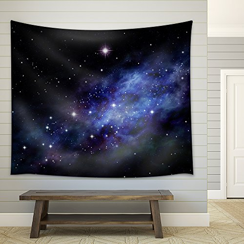 Imaginary background of deep space and star field Fabric Wall