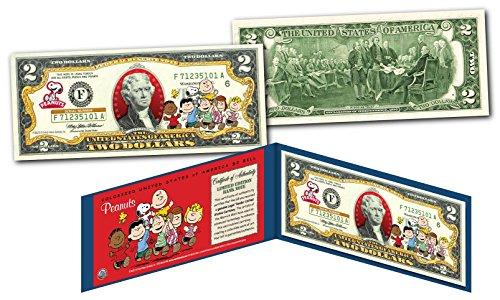 Gang Reverse (THE PEANUTS GANG $2 U.S. Bill - Charlie Brown with Snoopy - Woodstock - FRANKLIN)
