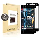 [2 - Pack] Google Pixel 2 , Linboll [3D Full Coverage] [9H Hardness] [Anti - Scratch] Tempered Glass Screen Protector For Google Pixel 2 (black)