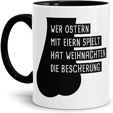 TRIOSK Tasse K/üken mit H/ühner Eier Spruch lustig Baby Huhn Oster Geschenk f/ür M/änner Freunde H/ühnerliebhaber B/üro Kollegen Ostern Vatertag