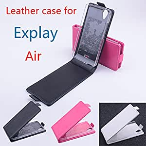 High Quality New Original Explay Air Leather Case Flip Cover for Explay Air Case Phone Cover In Stock Free Shipping --- Color:Black