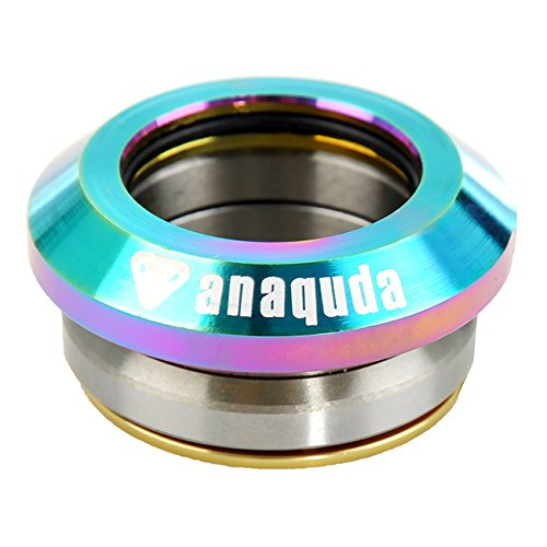 'Anaquda Full Integrated Headset 1 1/8 BMX Stunt Scooter Headset (Rainbow)