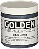 Golden 0003560-5 Acrylic Black Gesso Jar, 8 oz