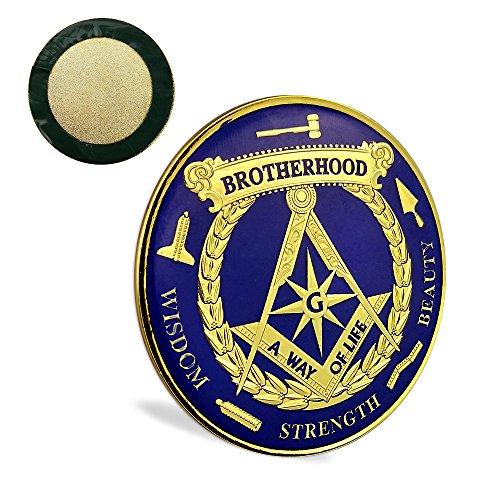 JYG Square & Compass Brotherhood Masonic Car Emblem Badge Working Tools Symbols Freemason Auto Decal