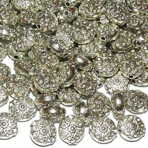 104080 Spacer 10 mm coin metal beads between pearl color antique silver #S472