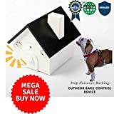 Malu Pet Products Best 2018 Version Outdoor Ultrasonic Bark Control Device Bark Deterrent Training Dogs to Stop Nuisance Barking Behaviour Safe Animals Humans Effective Range 50 Feet