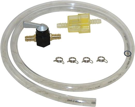8mm Kraftstoff Leitung Set Benzin Schlauch Hahn Filter Klammer Für Moped Mofa Roller Hercules Kreidler Zündapp Puch Auto