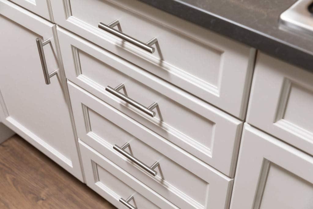 armoires /à tirer LS201BSS Lot de 15 poign/ées de porte de cuisine poign/ées en T en acier inoxydable creux avec vis
