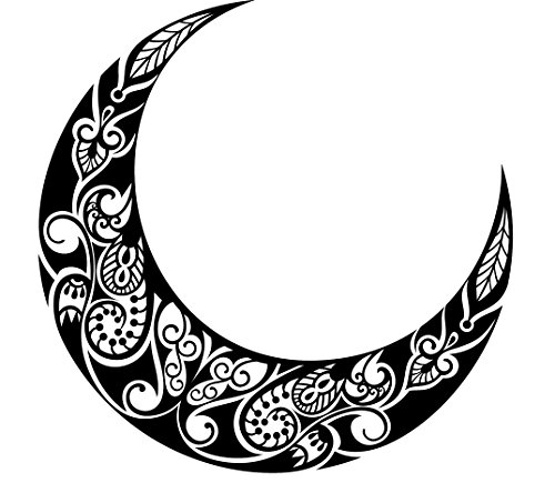 pretty-black-and-white-crescent-moon-with-paisley-pattern-vinyl-decal-sticker-12-wide