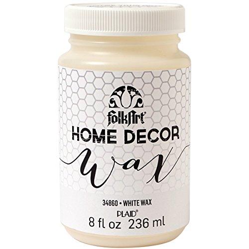 FolkArt 34860  Home Decor Wax, 8-Ounce, White
