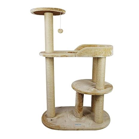 GCHOME Árbol de Gato Estructura de Escalada para Gatos, Tela de Felpa Corta Sisal Torre