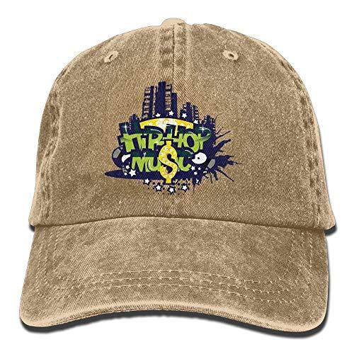 DEFFWB Hat Hip Hop Music Denim Skull Cap Cowboy Cowgirl Sport Hats for Men Women