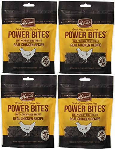 Merrick CHICKEN POWER BITES MADE IN USA 4 PACK 24 Ounces Total DOG TREATS TRAINING