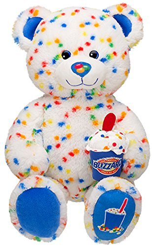 Build a Bear Workshop Rainbow Colored Candy Confetti Sprinkles Blizzard Scented DQ Dairy Queen Ice Cream Teddy 17 in. Stuffed Plush Toy Animal (Best Dairy Queen Blizzard)