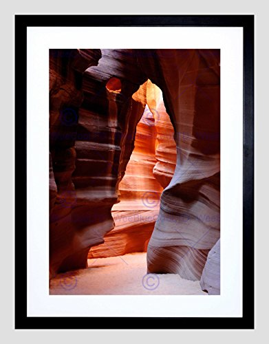 Antelope Canyon Arizona CAVE Black Frame Framed Art Print Picture Mount B12X9565 ()