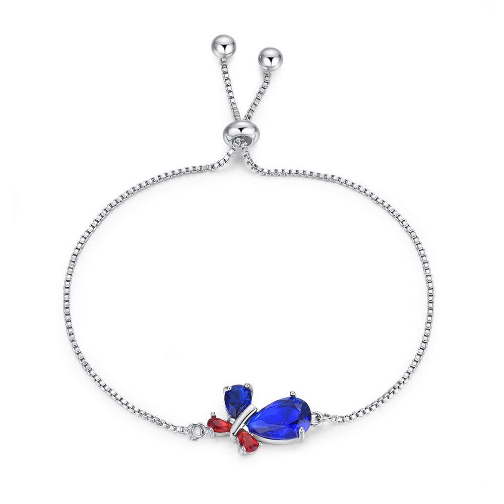 YAZILIND Butterfly Platinum Plated Adjustable Tennis Bracelet Brilliant Cut Charm Cubic Zirconia Jewelry Women Girl Gift