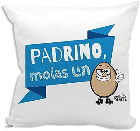 Cojín + Relleno. Padrino, molas un Huevo. 42,5 x 42,5 cm. Agradable Tacto Algodón: Amazon.es: Hogar