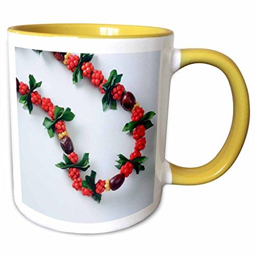 3dRose Danita Delimont - Hawaii - Lei, Tradition, Flower, Hawaii - NA01 DPB0031 - Douglas Peebles - 11oz Two-Tone Yellow Mug (mug_83390_8) (Tone Flower Lei Two)
