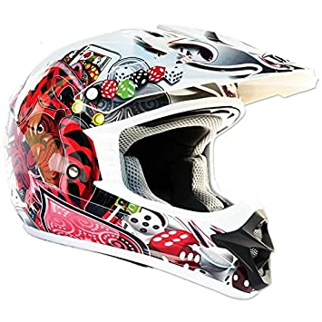 Thh blanco Joker tx12 casco de Motocross, color blanco, tamaño X-Large