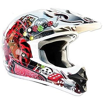 Thh blanco Joker tx12 casco de Motocross, color blanco, tamaño X-Large
