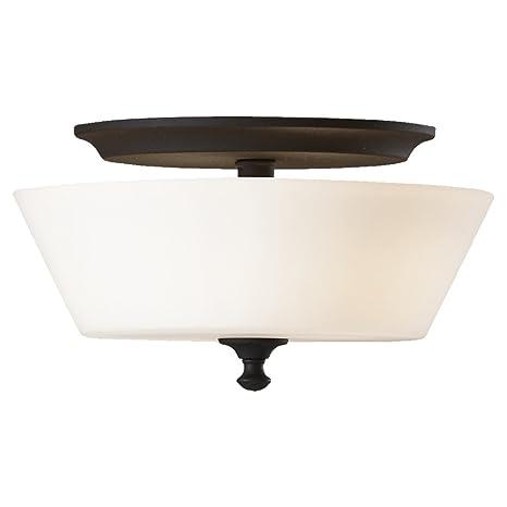 Feiss fm354bk peyton 2 light indoor flush mount black