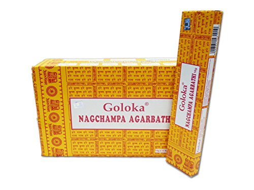 Goloka Nag Champa Incense Sticks (16 grms) - 12 Boxes -