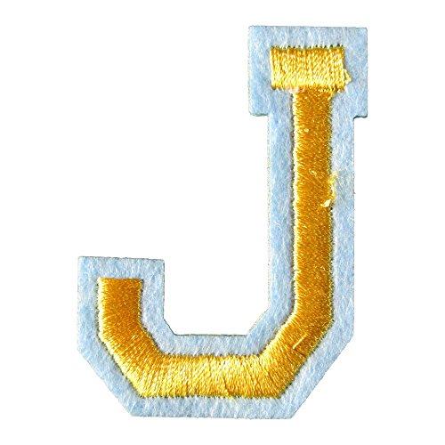 アイロンワッペン アルファベット J 金の商品画像