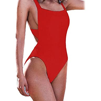 cdfc924a57a31 CROSS1946 Sexy Women Monokini Swimsuits One Piece Bathing Backless Bikini  at Amazon Women's Clothing store: