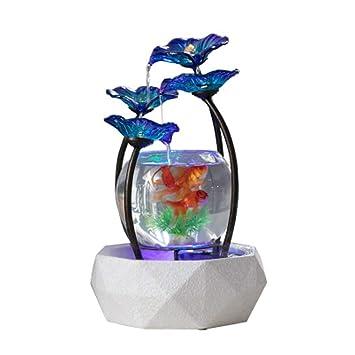 LSHUAIDJ Acuario Creativo hogar Fuente de Agua decoración Sala de Estar Oficina Interior decoración de Vidrio