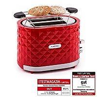Klarstein Granada Rossa Design 2 Scheiben-Toaster mit hübsch gemusterter...