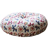 Cute Round Seat Cushion Soft Chair Pad Floor Cushion Pillow, N