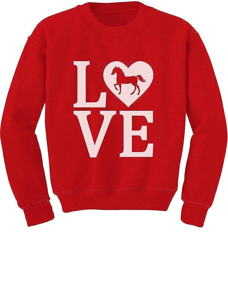 Love Horses Gift for Horse Lover Toddler//Kids Sweatshirt Tstars