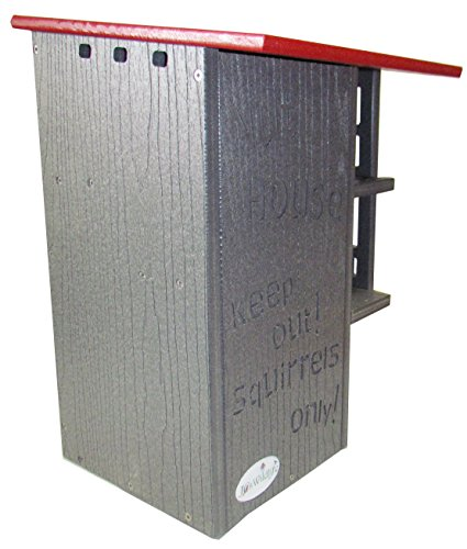 JCs Wildlife Ultimate Squirrel House Nesting Box (Red/Gray) by JCs Wildlife (Image #4)