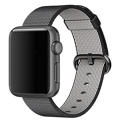 Apple Watch band, Oitom Woven Nylon Watch Band Strap (Black, Apple Watch 38mm)
