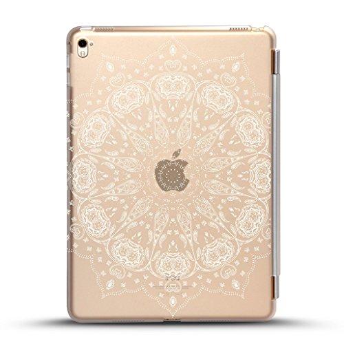 iPad mini 4 case , Come with Black detachable smart cover for Auto Wake/Sleep Feature, Paisley Mandala Design for New iPad Mini 4 Retina Display 2015 model (New Black Paisley)