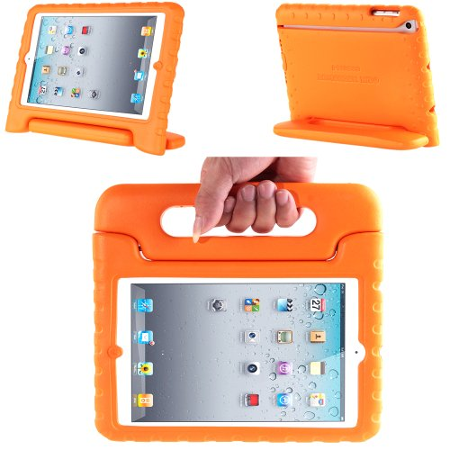- i-Blason Apple iPad Air / iPad 5 ArmorBox Kido Series Light Weight Super Protection Convertable Stand Cover Case (Orange)