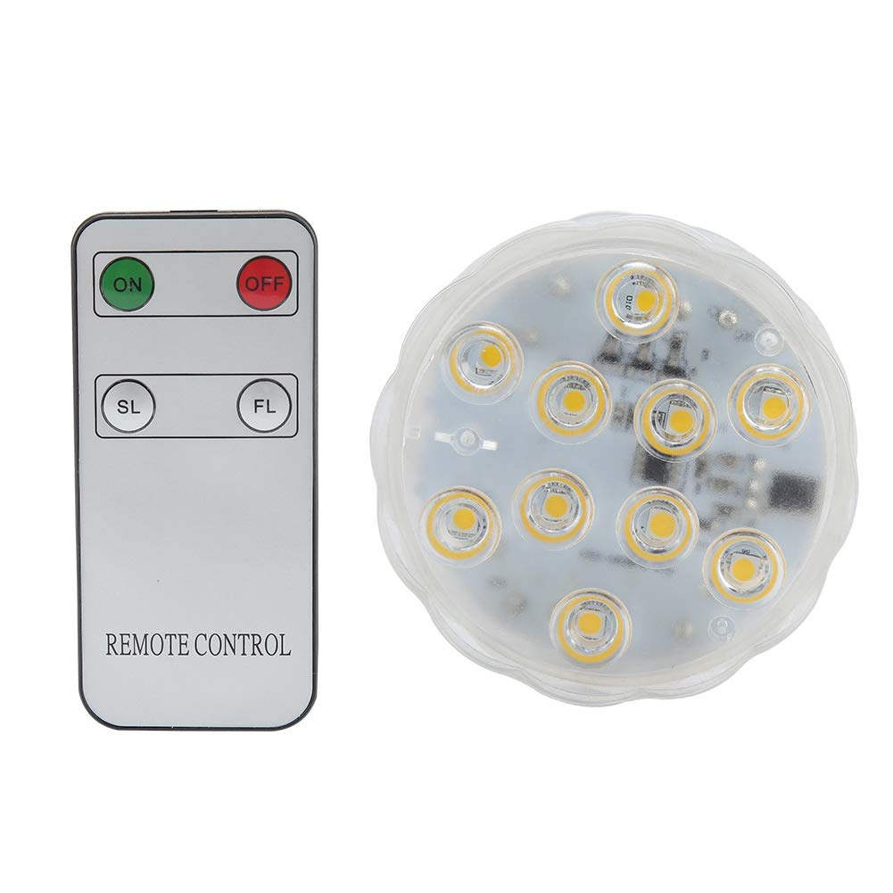 Antilog Underwater Light,4.5V LED Underwater Light Warm White Waterproof Lamp for Fish Tank Pond Swimming Pool Bar by Antilog