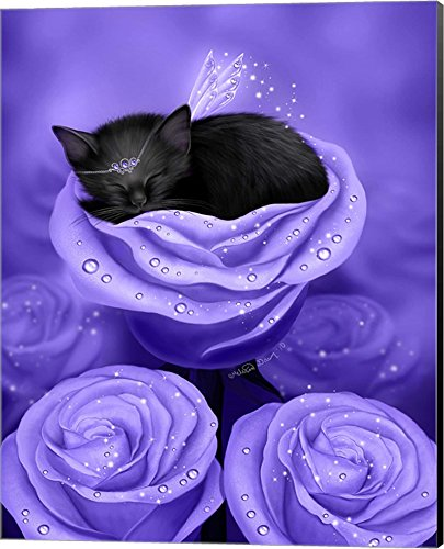 Lilac Daydreams by Melissa Dawn Canvas Art Wall Picture, Museum Wrapped with Black Sides, 16 x 20 - Lilac Daydream