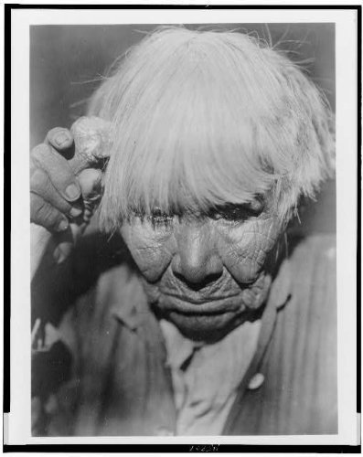 1924 Photo Old woman in mourning--Yuki Yuki woman, head-and-shoulders portrait, looking down.