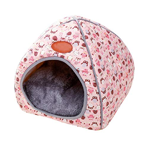 - 1Pc Pet Dog Bed & Sofa Warming Dog House Soft Dog Nest Winter Kennel for Puppy Cat Plus Size Small Medium Dogs Pet,Pink,S