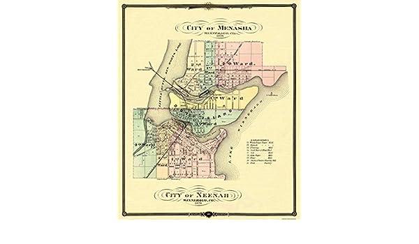 Snyder 1878-23 x 27.5 Neenah Wisconsin Menasha
