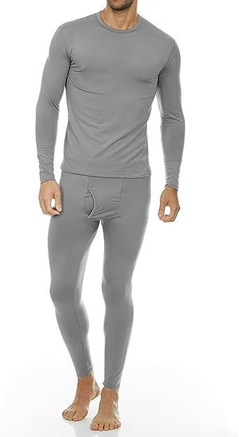 Mens Long John Thermal Top Short Sleeve Heavy Duty Fabric Winter Underwear Top
