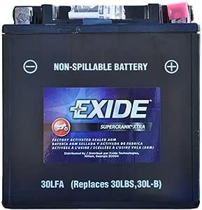Amazon.com: Exide Technologies SC30LFA Motorcycle Battery ...