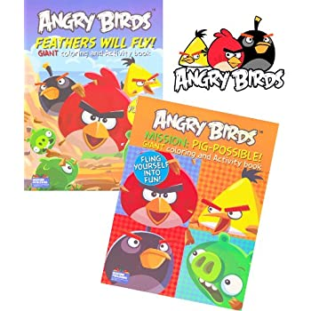 Amazoncom Angry Birds Giant Coloring and Activity Books 2 Book