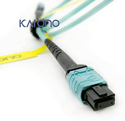 MPO//MTP to MPO//MTP Fiber Cable OM3 12-core Fiber for QSFP+Transceivers 25 FT