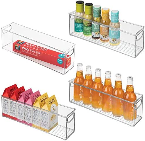 mDesign Plastic Stackable Kitchen Refrigerator product image